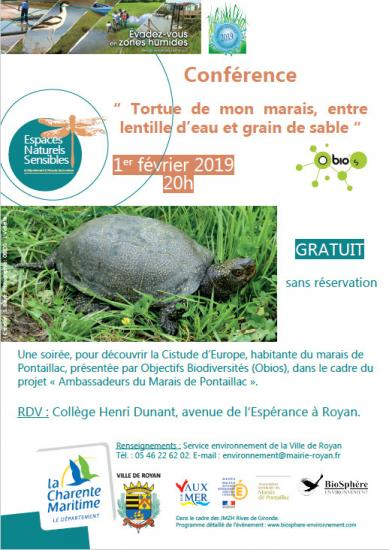 Affiche conference cistude pontaillac