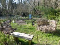 Potager de Marie-Elisabeth dans le jardin du poète